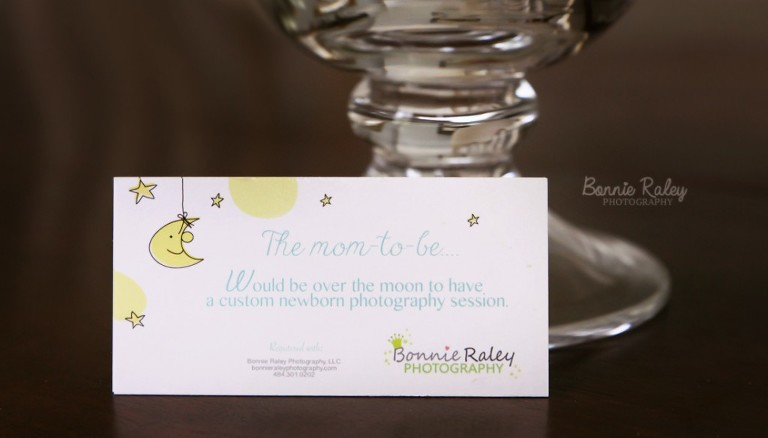 photography session newborn registry cards